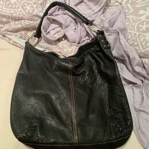 Black leather hobo lucky brand bag